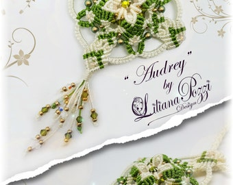 "Photo tutorial in PDF to make macramé ""Audrey"" pendant"