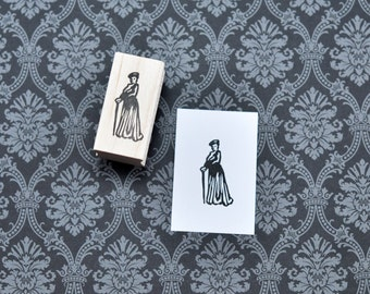 Dowager Countess Rubber Stamp, Small Hand Carved Downton Abbey Stamp