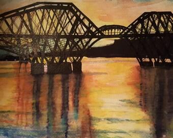 Forth Rail Bridge at Sunset