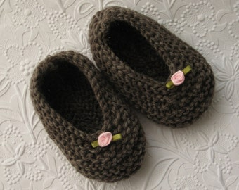 Hand Knit Baby Slippers/Booties/Socks