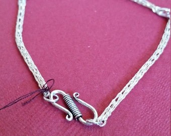 Viking knit anklet with S closure
