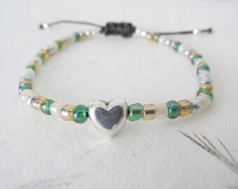 Heart bracelet, love bracelet, friendship bracelet