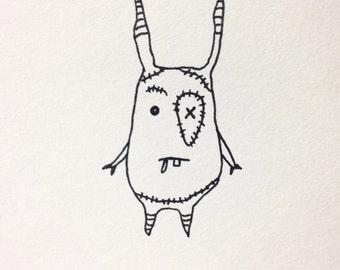 "The Mini Monster Illustrations - ""Strainséir"""