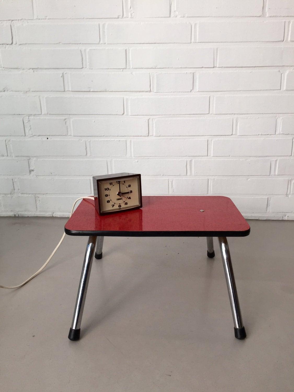vintage hocker fu hocker kleiner tisch 50 ziger jahre. Black Bedroom Furniture Sets. Home Design Ideas