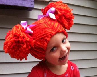 Kids Yarn wig, Rag doll wig, Pigtail wig, Kids dress up, Kids Halloween, Halloween costume, Costume wig, Girls wigs, Toddler photo prop