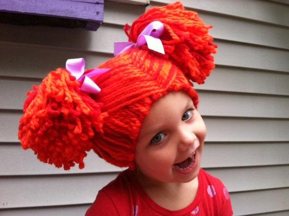 Kids Yarn wig Rag doll wig Pigtail wig Kids dress up Kids