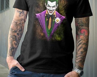 Joker SHIRT | PREMIUM QUALITY | Suicide Squad | Gotham | Arkham | painting | Geek Shirt