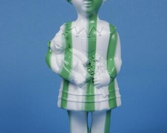 Large White & Green Stripey Clonette Doll