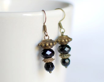 Black and bronze - Earrings