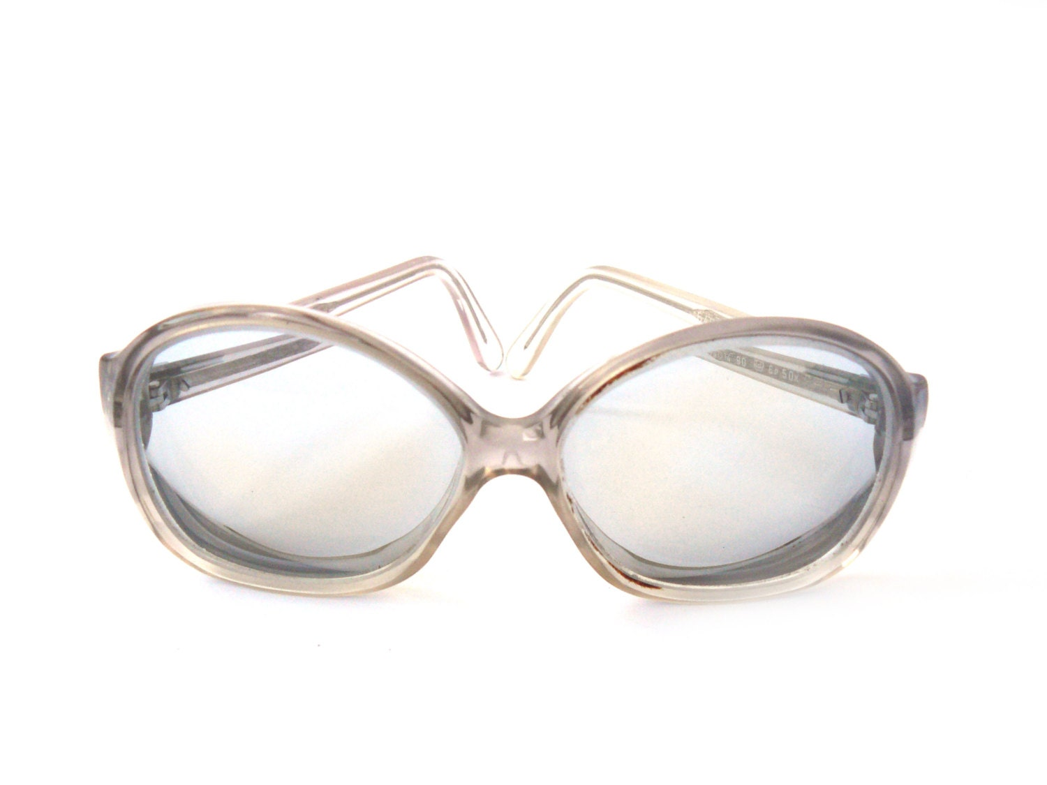 Gray Frame Reading Glasses : Vintage gray reading glasses spectacle frames hipster