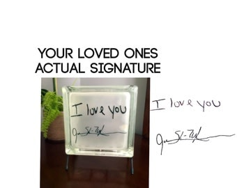 Handwriting Gift - Memorial Gift - Remembrance Gift - Gift With Handwriting - Loved Ones Handwriting - Loved One In Heaven - Signature Gift