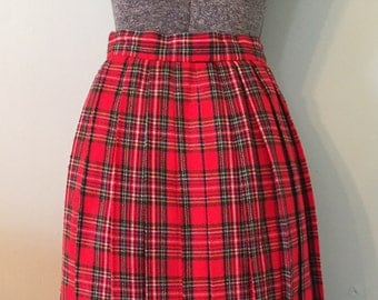 Vintage 1950s Pendleton Plaid Skirt