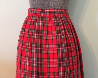 Vintage 1970s Pendleton Plaid Skirt