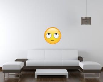 Rolling Eyes Emoji Vinyl Wall Decal