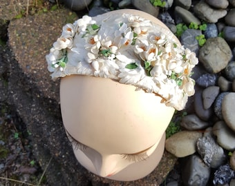 Bridal Vintage Floral Headpiece 1950-60