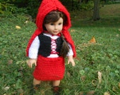 American Girl Doll Crocheted Little Red Riding Hood Costume