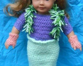 American Girl Doll Crocheted Mermaid Costume