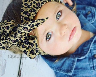 COCO CHEETAH Gorgeous Wrap- headwrap; fabric head wrap; cheetah head wrap; newborn headband; baby headband; toddler headband; baby headwrap