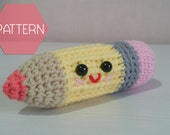 PATTERN, amigurumi pencil pattern, crochet plushie PDF pattern instant download