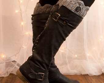 Silver Grey Boot Cuffs