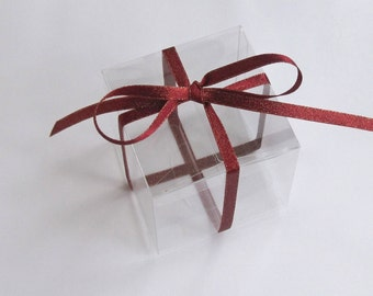 """Clear Boxes, 3x3x3"""" Favor Boxes, Gift Boxes, Treat Boxes, Set of 20."""