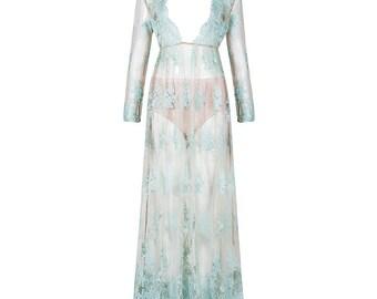 Resort Lux Maxi Dress - Light Blue