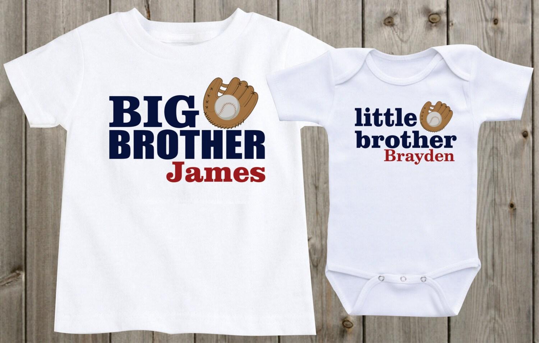 Baby girls clothing matching shirts set of 2 sibling shirts big brother little brother personalized shirts baseball sports theme negle Choice Image