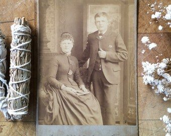 Cabinet Card of a Couple