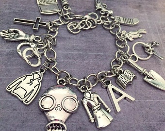 Pretty Little Liars Ultimate Inspired Charm Bracelet - Fandom Jewelry - PLL Jewelry - Pretty Little Liars Jewelry