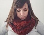 Knit Infinity Scarf Cowl Chunky | SPICE orange | Ready to Ship