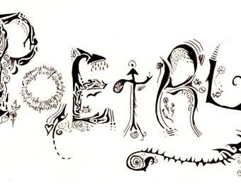 Custom 5X7  Design (Doodle Art)