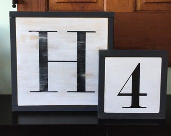 "12""x12"", Capital Letter Sign, Number Sign, Alphabet Sign"