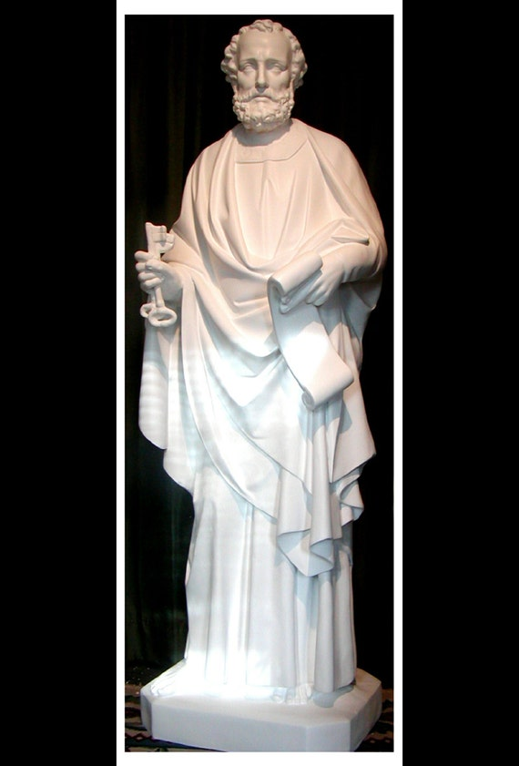 "St. Peter the Apostle 65"" Fiberglass Statue (SALE)"