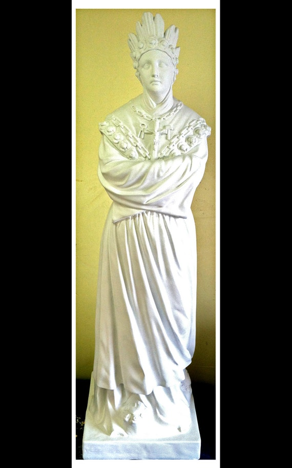 "Our Lady of La Salette 65"" Fiberglass Virgin Mary Catholic Christian Statue"