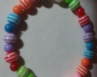 Candy color stretch bracelet.