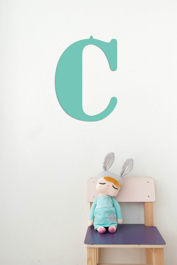 12 large nursery letter c wall metal for Large wall letters for nursery