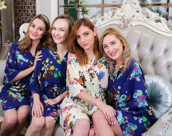 F07083 Kimono robe bridesmaid robe bridal party robe bridesmaid gift silk robe wedding dress,bridesmaid mug,bridesmaid outfits,flower crown,