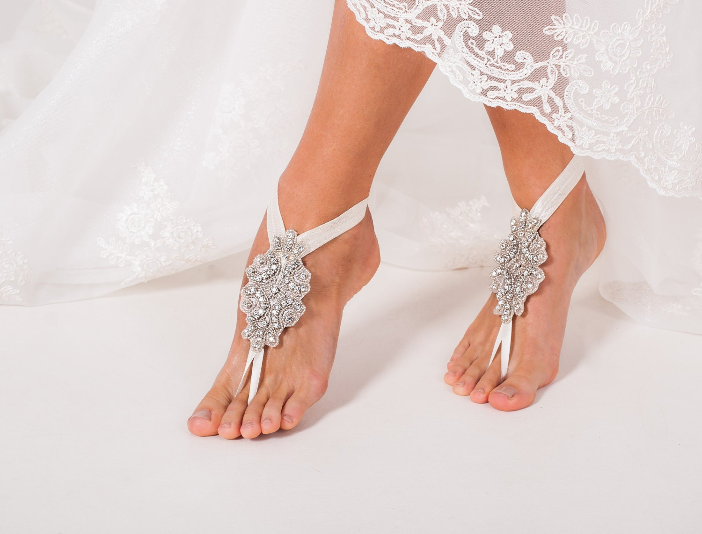 Bridal Barefoot Sandals Crystal Foot Jewelry Rhinestone
