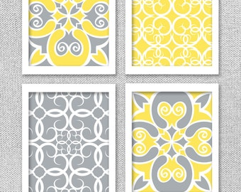Genial Printable Art, INSTANT DOWNLOAD, Yellow And Gray Art, 8x10, Printable Art  Set