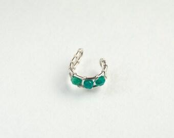 Sterling silver ear cuff * Ear wrap * Ear cuff non pierced * Simple ear cuff * Boho earring cuff * Ear jacket* Minimalist earcuff * Jewelry