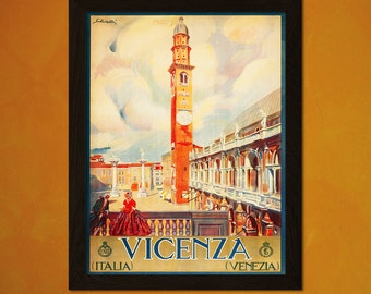 Print Italy Travel Print Travel Print 1920s - Vintage Travel Italy Poster Tourism Wall Decor Italian Print Gift Idea Reproduction