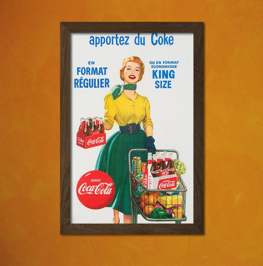 Coca Cola Kitchen Curtains: Coca Cola Print Kitchen Decor Vintage Coca Cola Kitchen