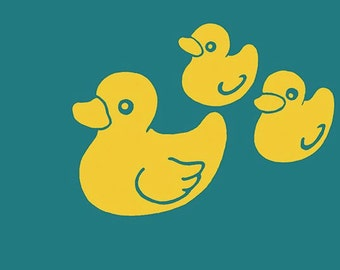 Rubber duck family - greeting card and envelope