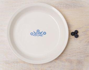 "vintage Corning Ware Pie Plate CornFlower Blue 9""inch / classic, vintage Kitchen decor"