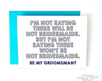Will You Be My Groomsman Card, Funny Groomsman Card, Best Man Card, Wedding Card, Be My Groomsman Card, Be My Groomsmen Card