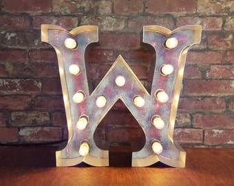 Marquee light up letters 'Circus Font' A-Z