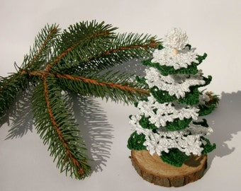Christmas tree Crochet Christmas tree Decorative Christmas tree Little Christmas tree Christmas gift idea Christmas accent Winter souvenir