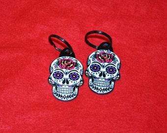 Sugar Skull Key Chain **2 PC SET**