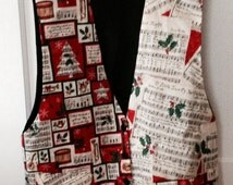 Christmas Vest Ugly Christmas Vest Music Christmas Vest Size XL Wild Fun Holiday Christmas Clothing Ugly Sweater Party Festive Unisex Vest