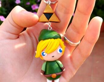 Link and Triforce Keychain The legend of Zelda Link Gamer